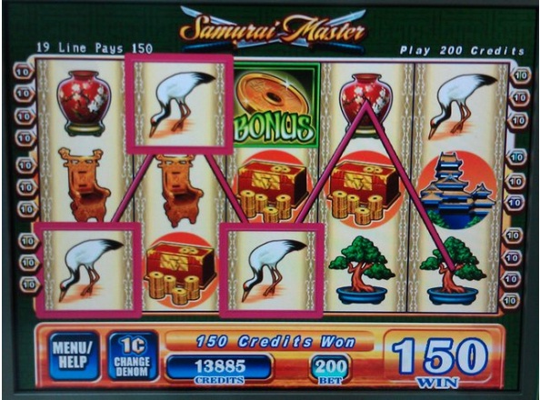 samurai secrets slot machine
